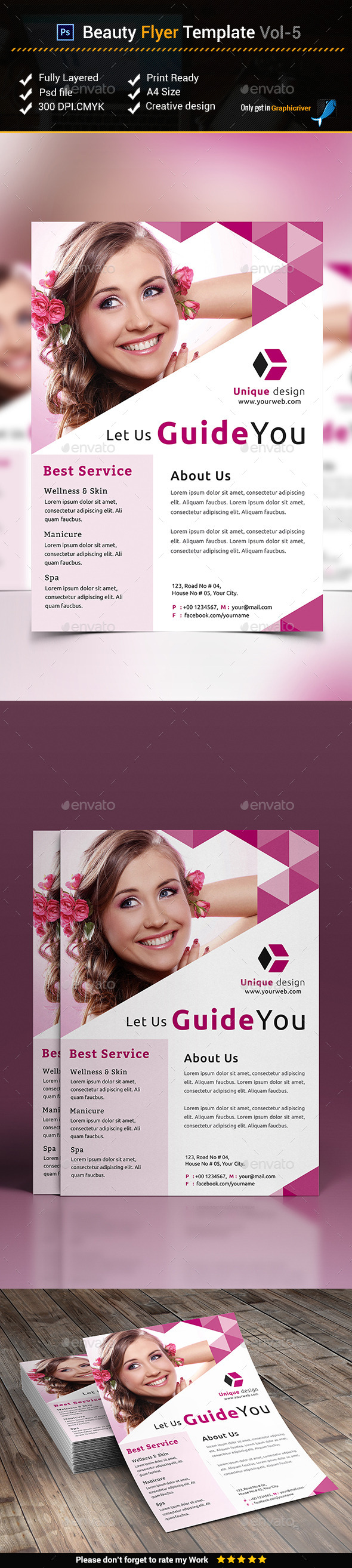 Beauty Flyer Template vol-5 - Corporate Flyers