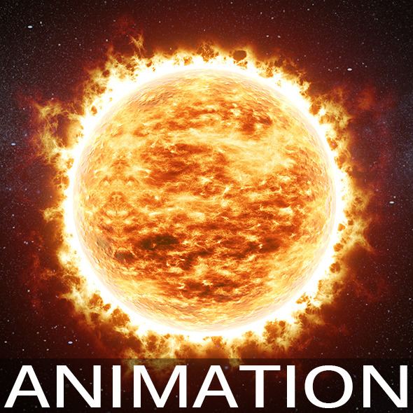 Animated sun v01 - 3DOcean Item for Sale