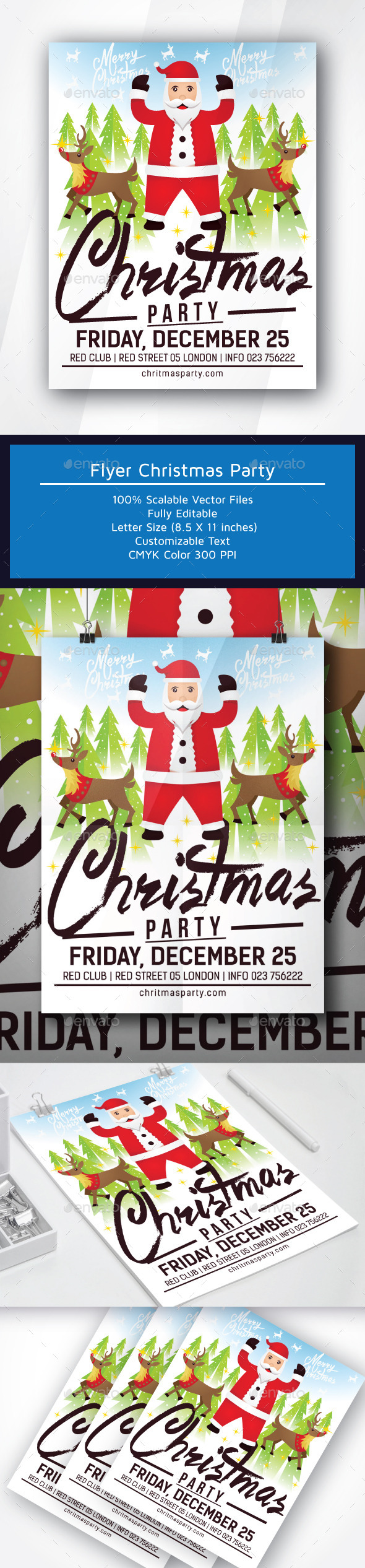 Flyer Christmas Party - Clubs & Parties Events