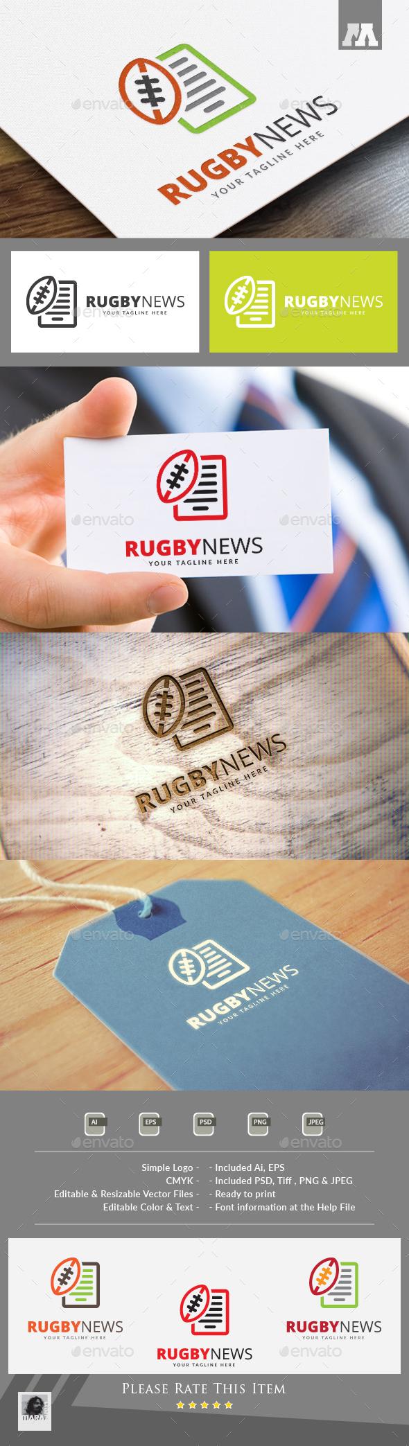 Rugby News Logo - Symbols Logo Templates