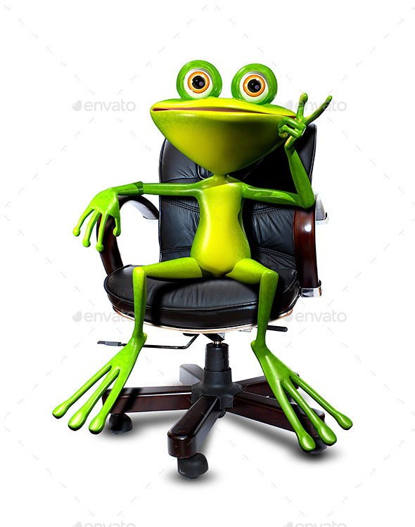 Frog in a chair - Animals Illustrations