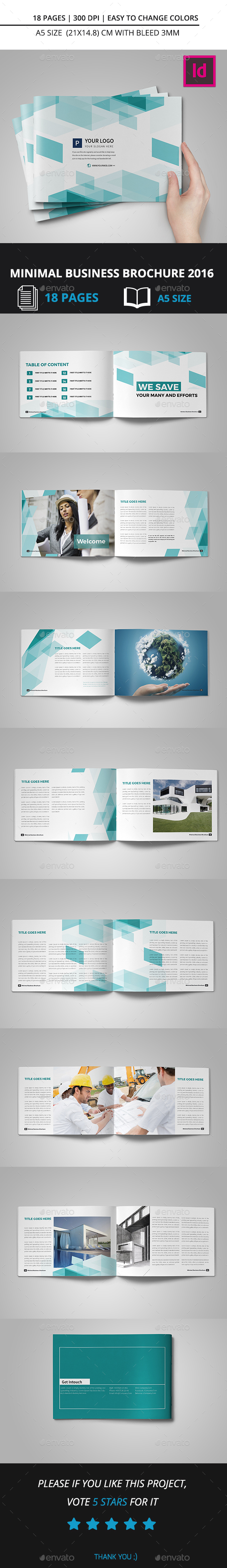 Minimal Business Brochure 2016 - Corporate Brochures