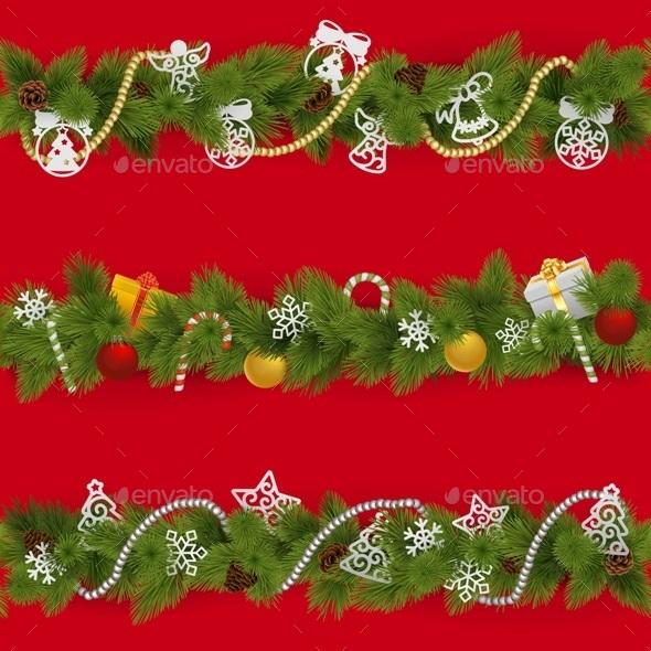 Vector Christmas Borders - Christmas Seasons/Holidays
