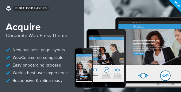 Acquire - WordPress Law Theme - Business Corporate