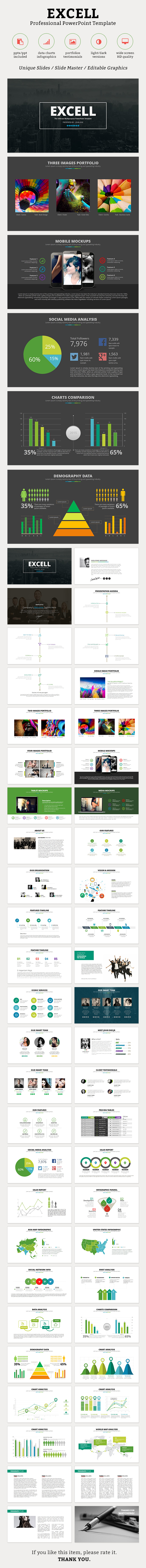 Excell PowerPoint Template - Business PowerPoint Templates