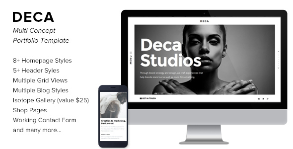 Deca - Creative Multi Concept Portfolio Template - Portfolio Creative