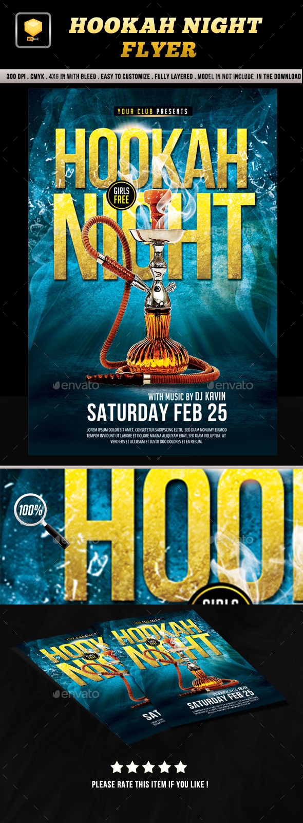 Hookah Night Flyer - Clubs & Parties Events