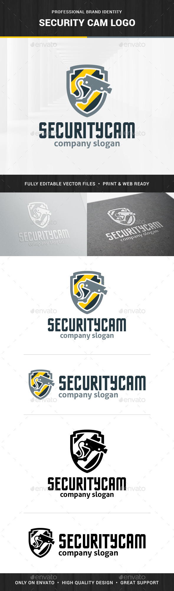 Security Cam Logo Template - Objects Logo Templates