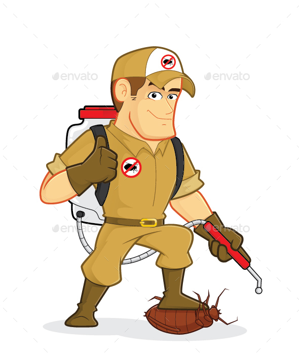 Exterminator or Pest Control - People Characters