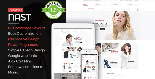 NastCreative - Multipurpose Responsive PrestaShop  - Fashion PrestaShop