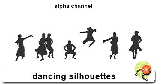 Silhouette of dancing people