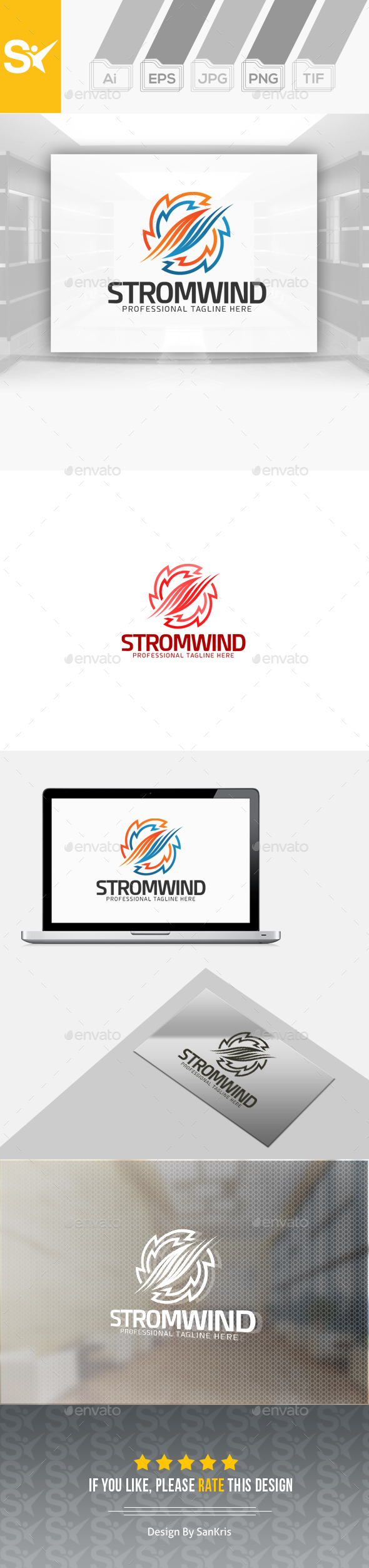 Storm Wind Logo - Abstract Logo Templates