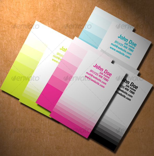 Monochrome Vertical Business Cards - Creative Business Cards