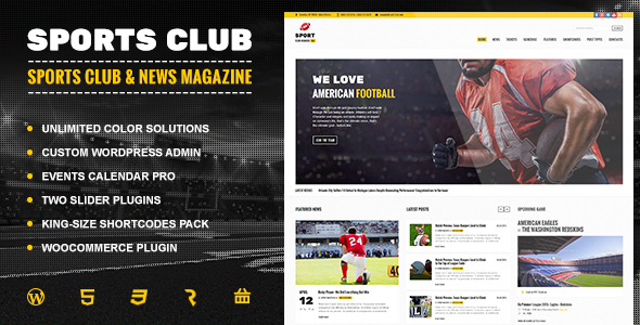 Sports Club – Football, Soccer, Sport News Theme