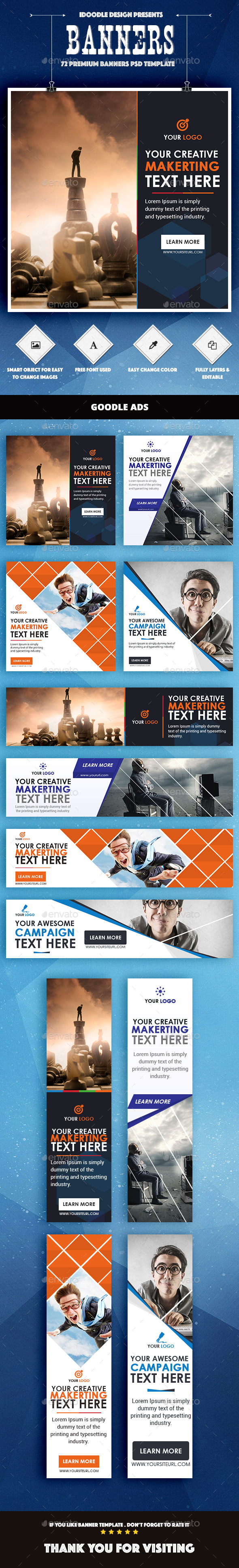 Bundle Multipurpose Banners Ad - Banners & Ads Web Elements