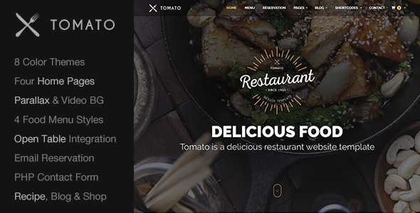 Restaurant Website Template — Responsive HTML5