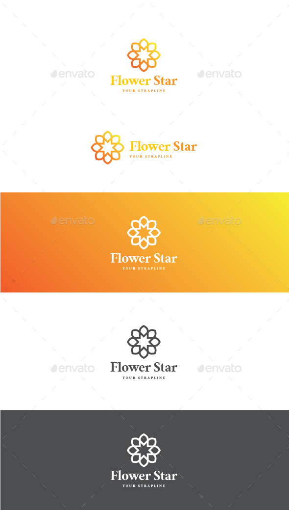 Flower Star Logo - Nature Logo Templates