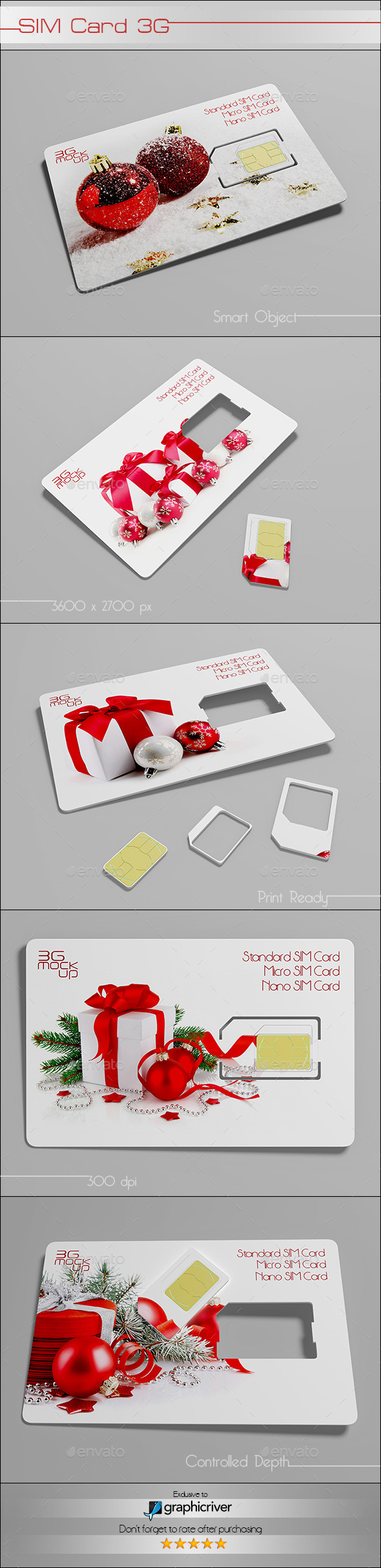 Sim Card Mock up - Product Mock-Ups Graphics