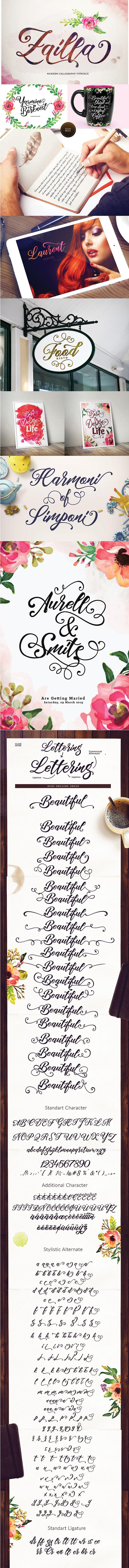 Zaila Script - Script Fonts