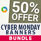 Cyber Monday Sale Banners Bundle - 3 Sets - GraphicRiver Item for Sale