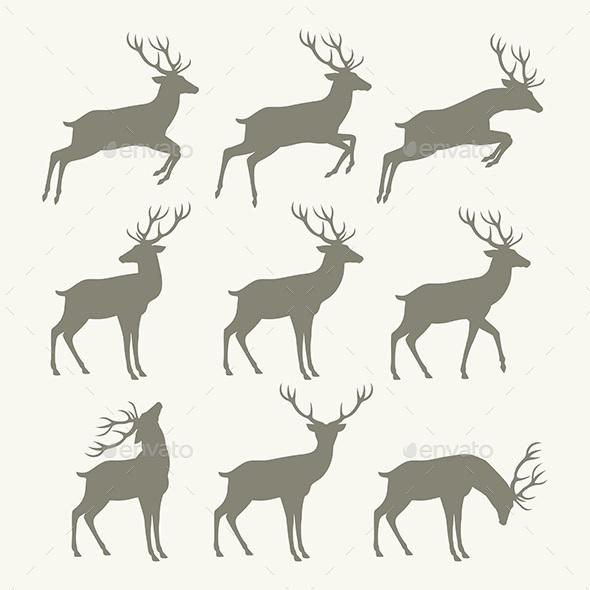 Christmas Reindeer Silhouettes - Christmas Seasons/Holidays