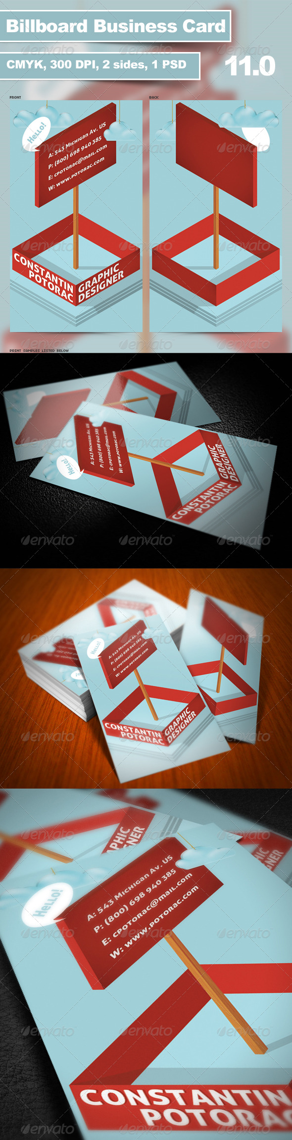 Billboard Business Card 11.0 - Creative Business Cards