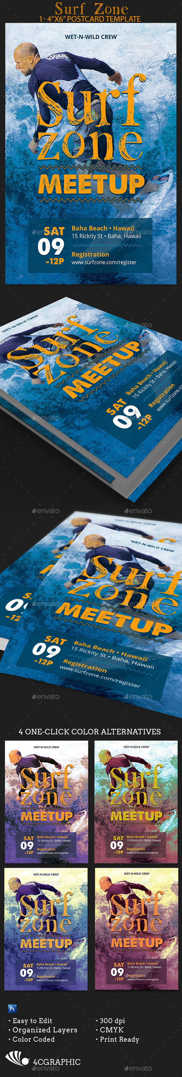 Surf Zone Flyer Template - Events Flyers