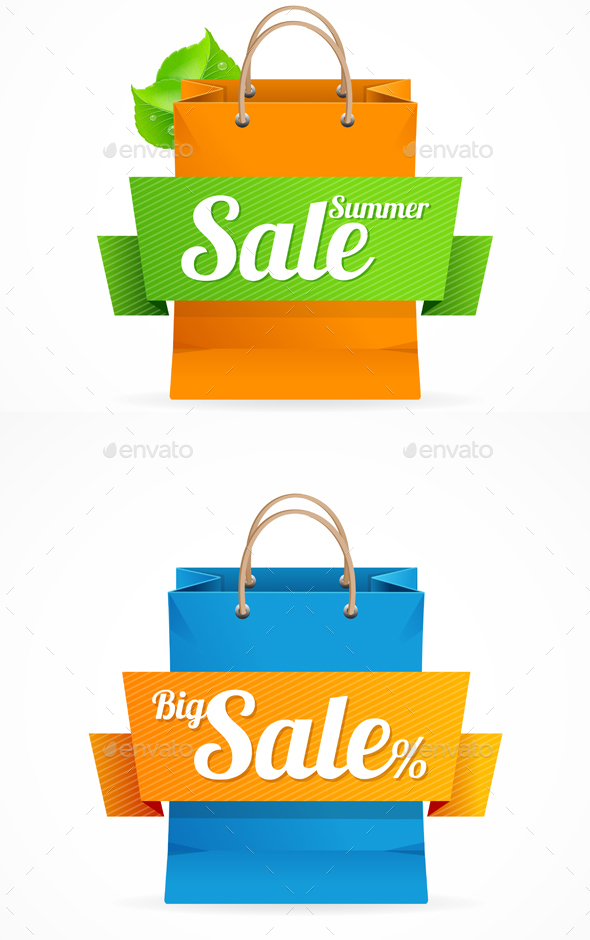 Shopping Bag with Sale on Ribbon. - Commercial / Shopping Conceptual