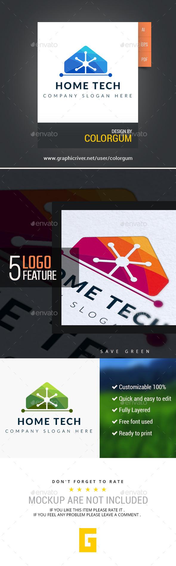 Home Tech - Buildings Logo Templates