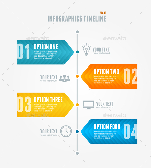 Timeline Infographic. Modern style.Vector - Business Conceptual