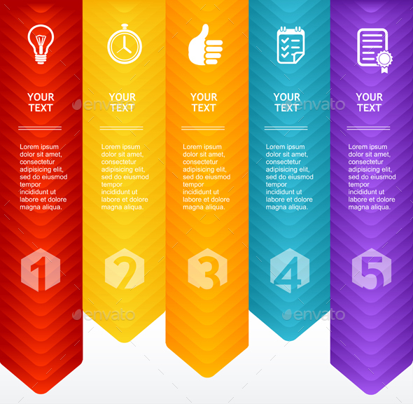 Infographic. Colorful Template. Vector - Communications Technology