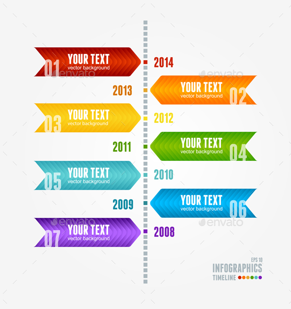 Timeline Year After Year. Vector - Conceptual Vectors