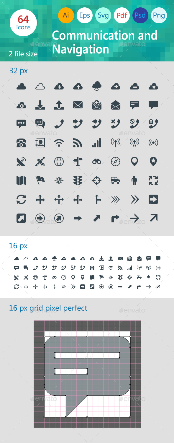 Communication and Navigation - Web Icons