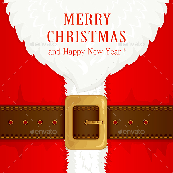Suit and Beard Santa Claus - Christmas Seasons/Holidays