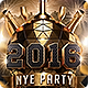 2016 New Years Eve NYE Flyer Template - GraphicRiver Item for Sale