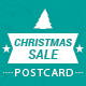 Merry Christmas Sale Postcard - GraphicRiver Item for Sale