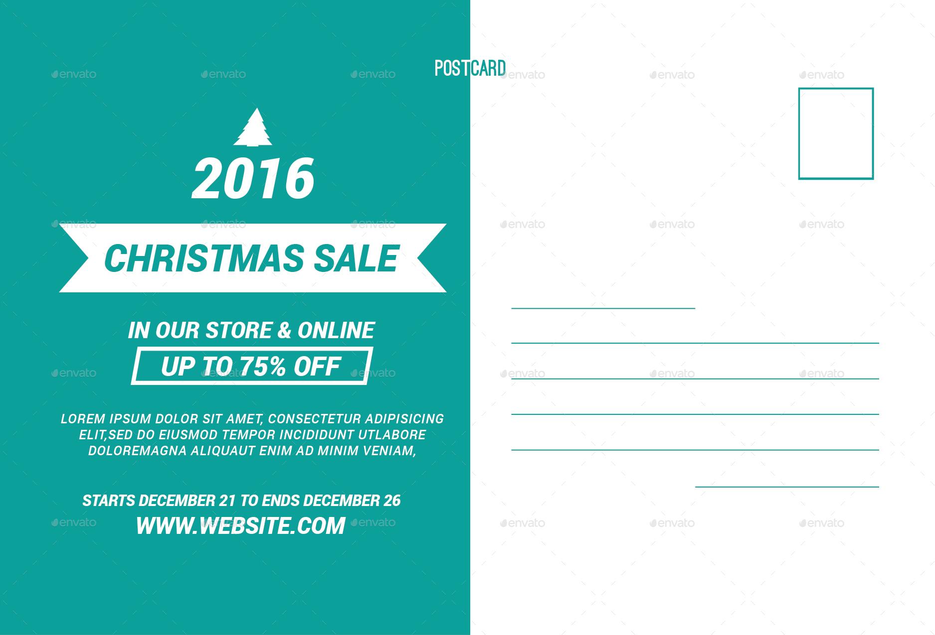 Merry Christmas Sale Postcard