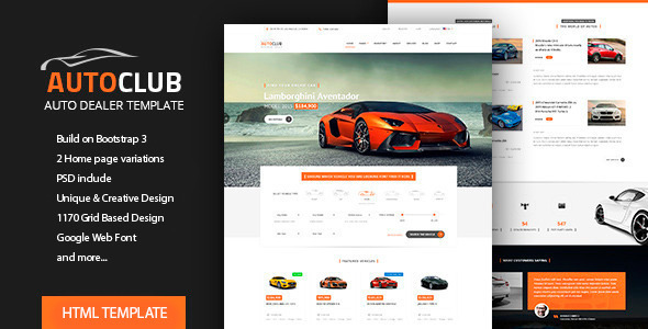 Auto Club – Car Dealer HTML Theme