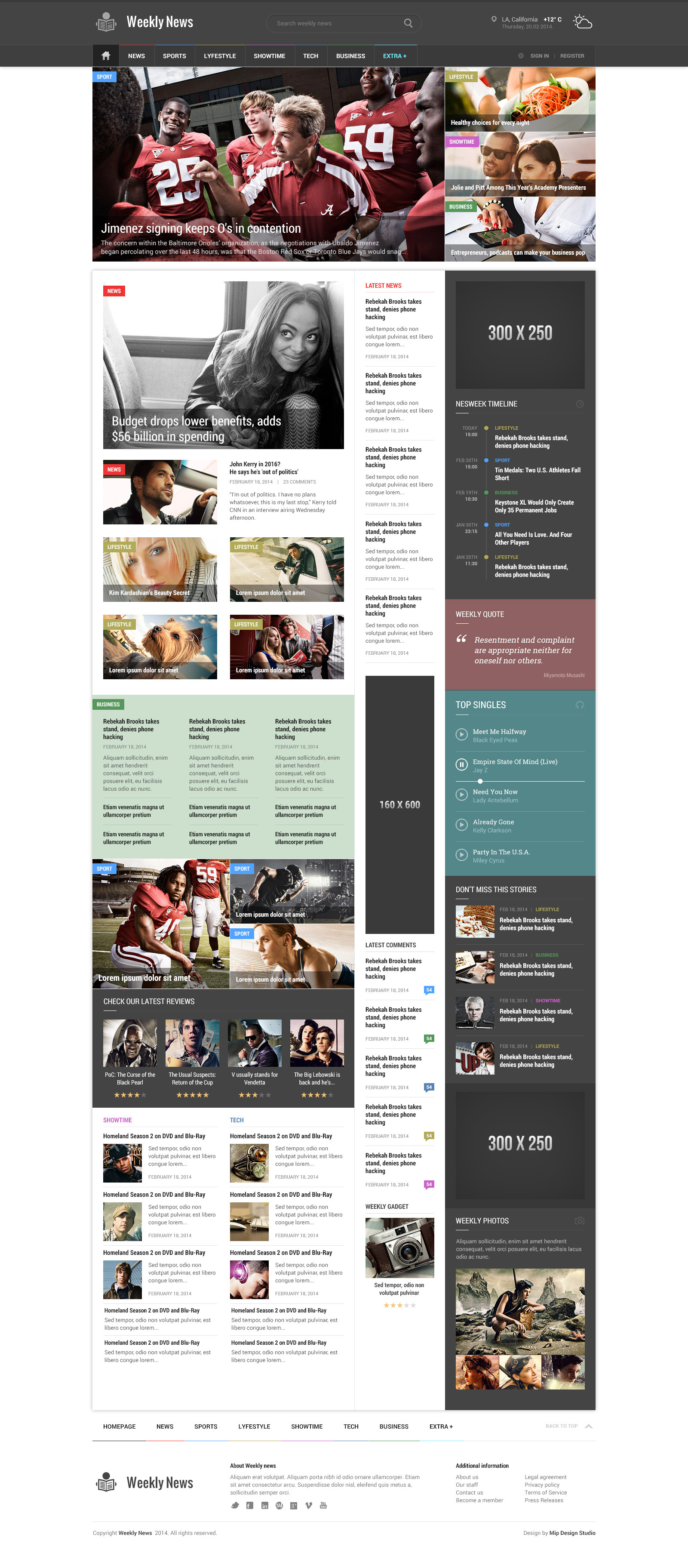 Weekly News - Responsive News/Magazine Template by mip | ThemeForest