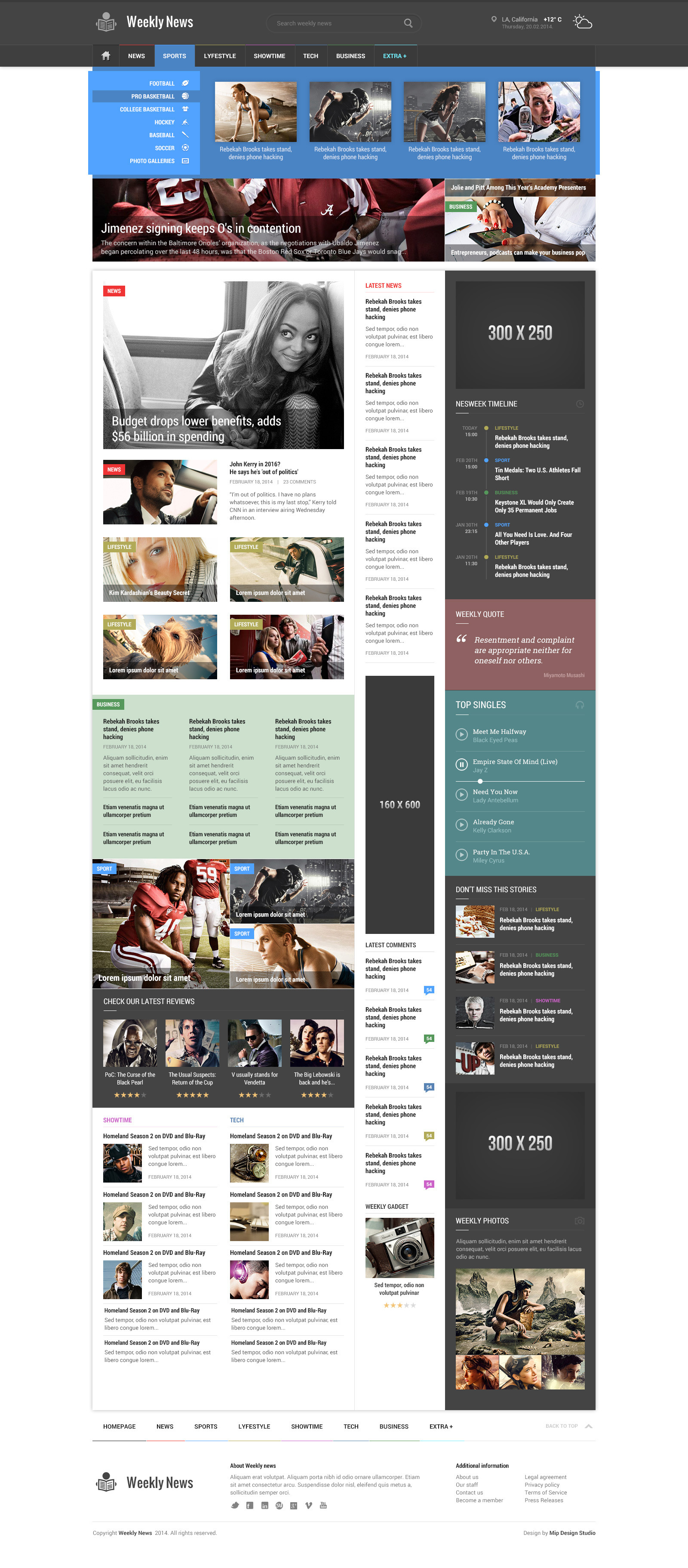 Weekly News Responsive Newsmagazine Template By Mip Themeforest