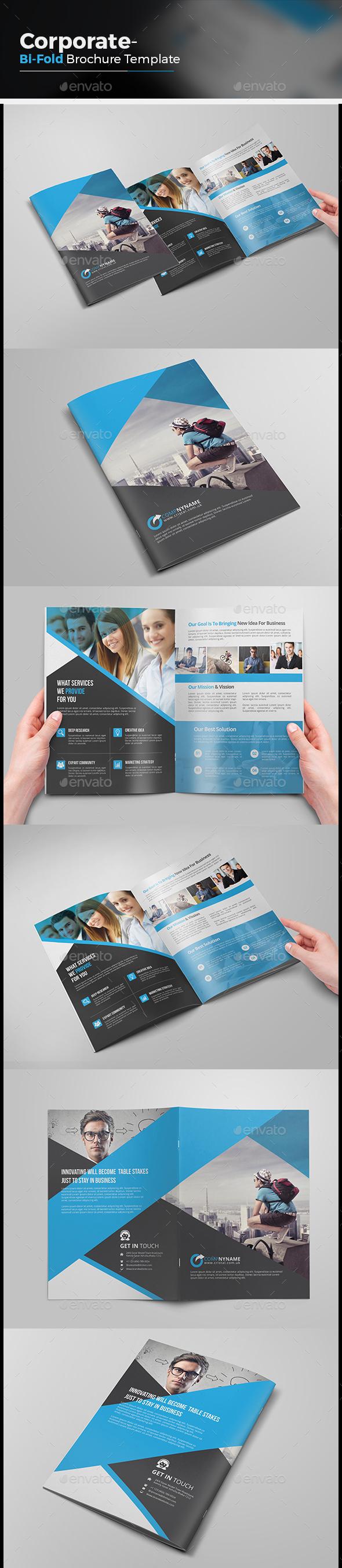 Bi-fold Creative Brochure - Corporate Brochures