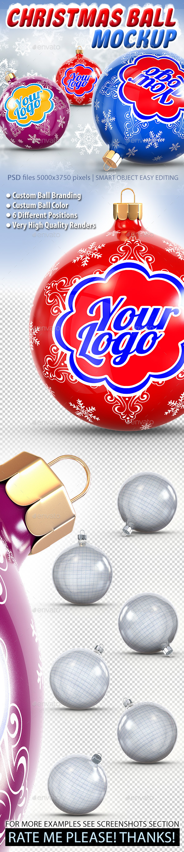 Christmas Ball Mockup - Miscellaneous Print