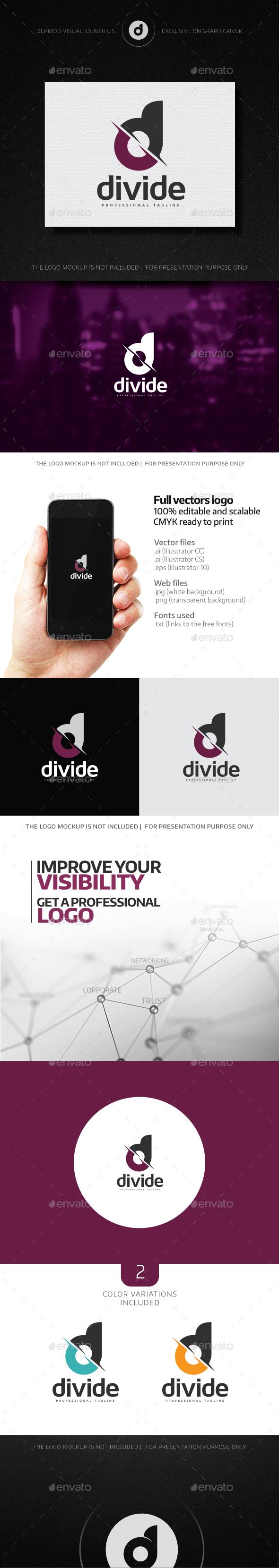 Divide Logo - Letters Logo Templates