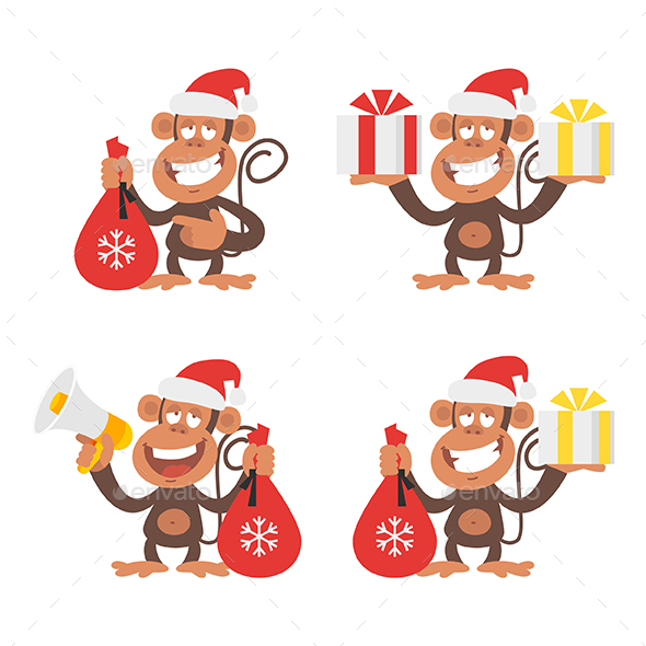 Monkey and New Year - Animals Characters