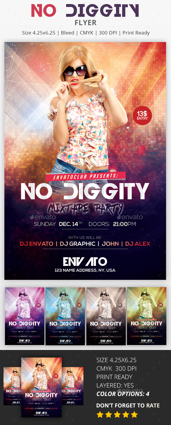 No Diggity - PSD Flyer - Events Flyers