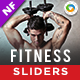 Fitness Sliders - 2 Designs - GraphicRiver Item for Sale