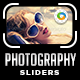 Photography Sliders - 5 Designs - GraphicRiver Item for Sale