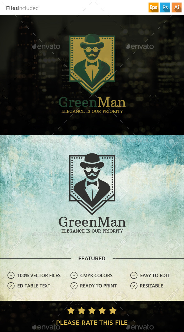 Gentleman Logo - Humans Logo Templates