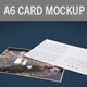 Realistic A6 Postcard/Card Mockup - GraphicRiver Item for Sale