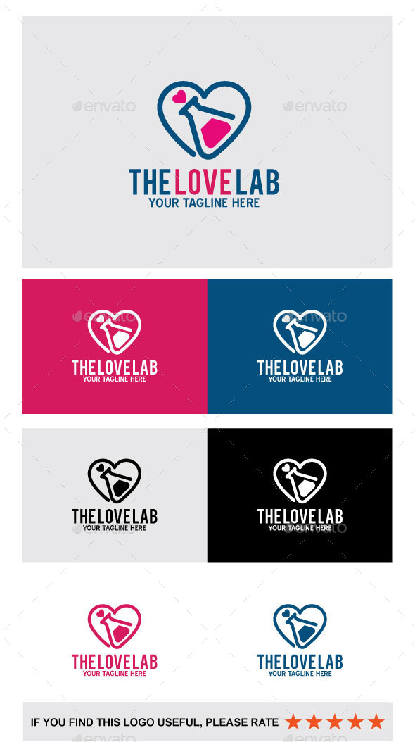 The Love Lab - Abstract Logo Templates